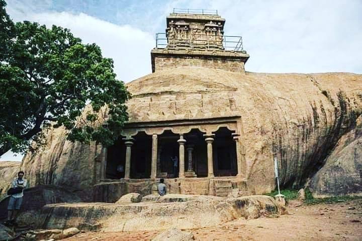 1365 Yrs old Mahishasura Mardini Cave Temple, TamilNadu, is an example of Indian...