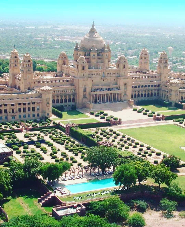 Ummed Bhavan Palace!   PC : Rajputana Itihaas Aur Virasat  #ummed #bhavan #palac...